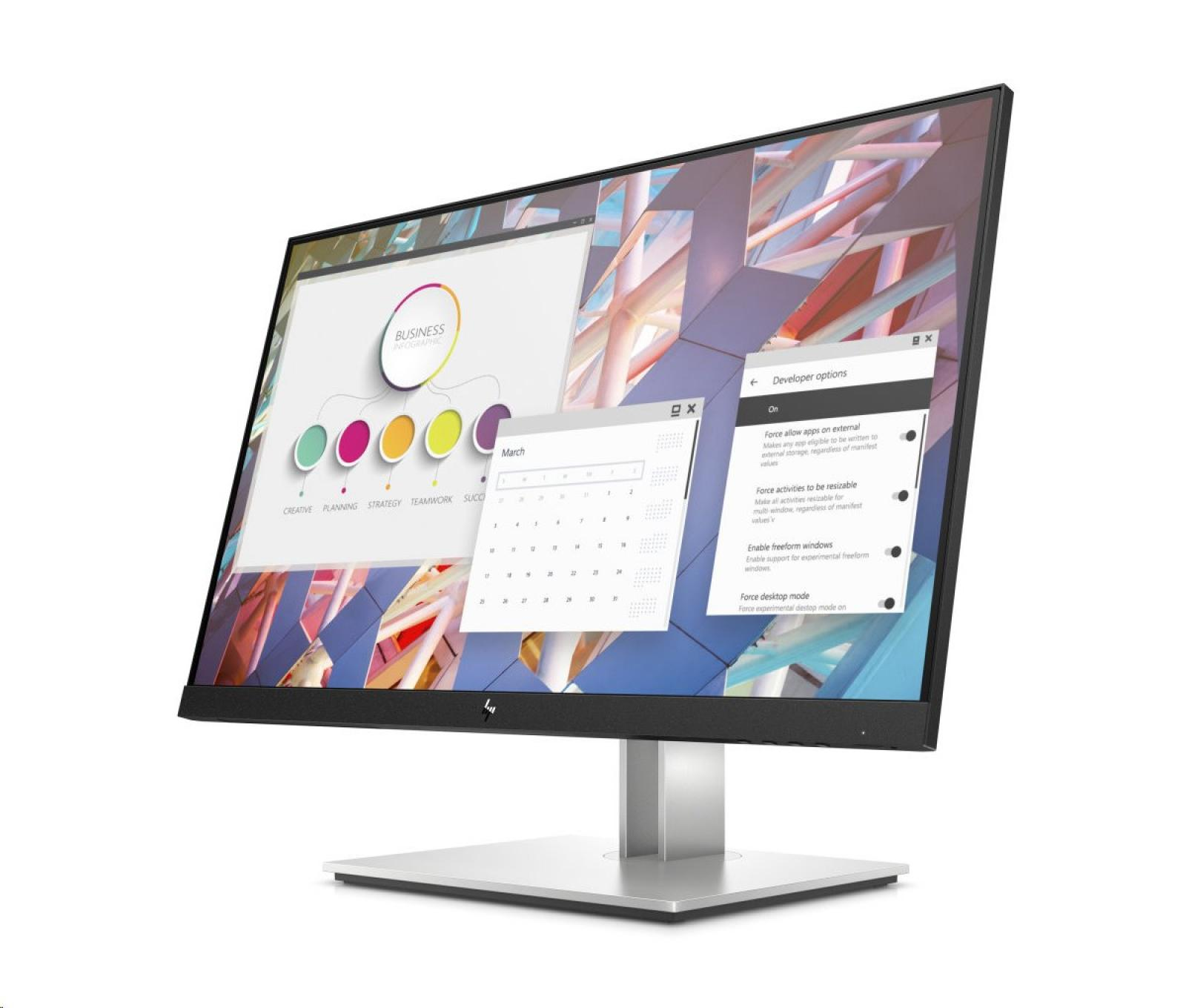 HP E24 G4, 23.8 IPS, 1920x1080, 1000:1, 5 ms, 250 cd, VGA/DP