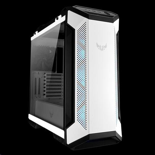 ASUS TUF GAMING GT501 skrinka EATX WHITE-Black, AURA LED fan