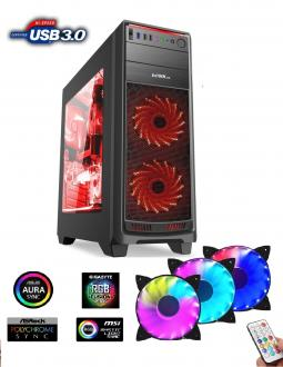 1stCOOL FullTower GAMER 1 AURA RGB LED fan, skrinka ATX, USB