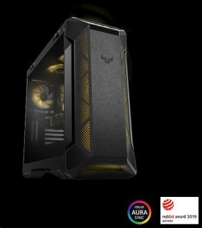 ASUS TUF Gaming GT501 case EATX Black, AURA LED fan