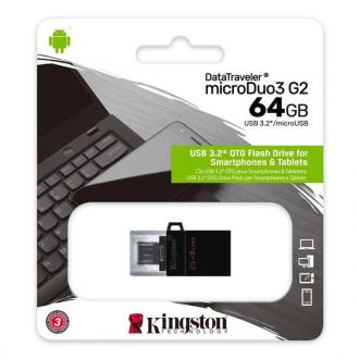 64 GB . USB 3.1 klúč . Kingston DataTraveler MicroDuo 3 Gen2
