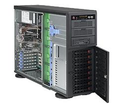 Supermicro® CSE-743TQ-1200B Tower/4U chassis 8x hs full cool