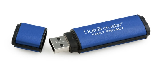 16 GB . USB 3.0 klúč . Kingston Secure DTVP30 256bit AES Enc
