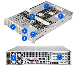 Supermicro® CSE-822T-R500RC 2U chassis