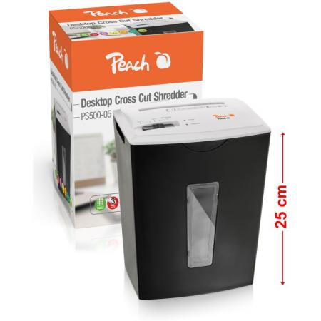 Peach PEACH Skartovač Mini Cross Cut Shredder PS500-05