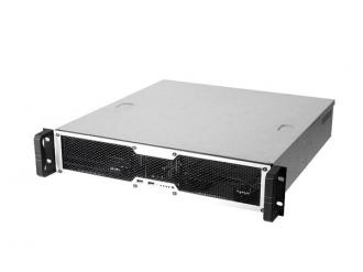 "Chenbro RM24100-L-U3, 19"" rack 2U, Black, low profile bez zd"