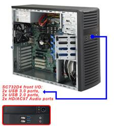 Supermicro® CSE-732D4-903B Tower WhisperQuite