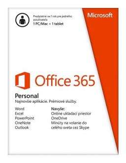 Office 365 Personal 32/64 All Languages, 1 Year - ESD
